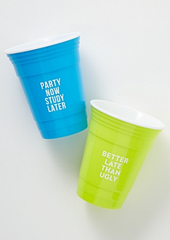 2-Pack Bright Study Later Party Cup Set