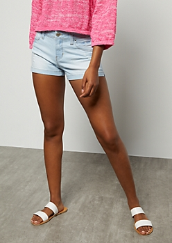 YMI Wanna Betta Butt Light Wash Distressed Shorts