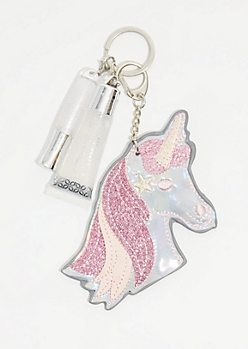 Iridescent Unicorn Lip Gloss Keychain