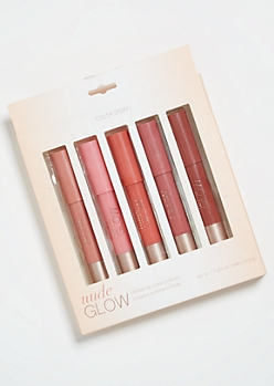 5-Pack Natural Glow Lip Color Crayon Set