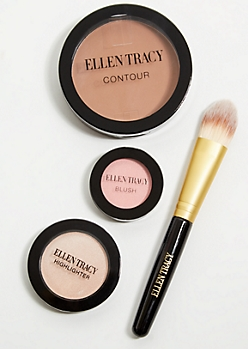 Blush Highlighter Contour Brush Complexion Set