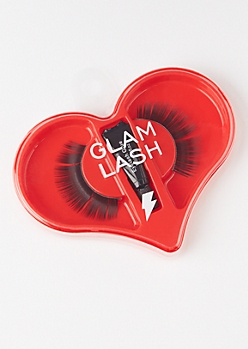 Black Glam Faux Lash Heart