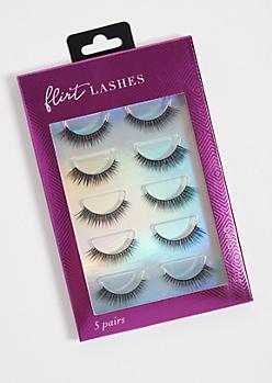 5-Pack Flirty False Eyelashes Set