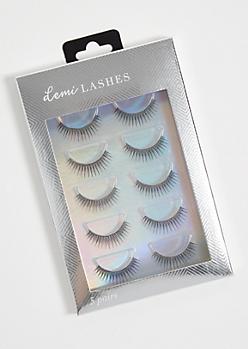 5-Pack Demi False Eyelashes Set