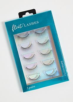 5-Pack Natural False Eyelashes Set