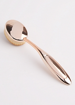 Large Rose Gold Oval Face Brush