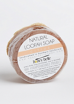 Citrus Natural Loofah Soap By Honey Belle