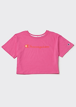 Champion Pink Graphic Crop Top