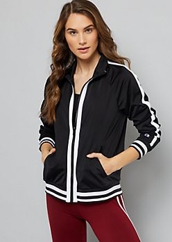 Champion Black Striped Trim Track Jacket