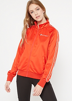 Red Champion Side Striped Track Jacket