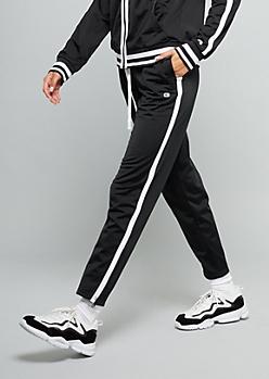Champion Black Side Striped Track Pants