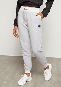 Champion Heather Gray Hip Graphic Joggers