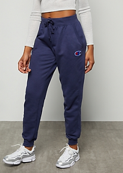 Champion Dark Blue Hip Graphic Joggers