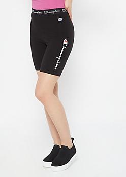 Champion Black Graphic Bike Shorts