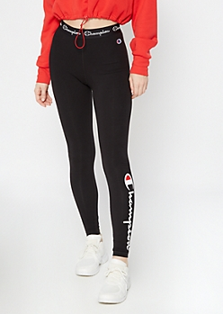 Champion Black Logo Graphic Leggings