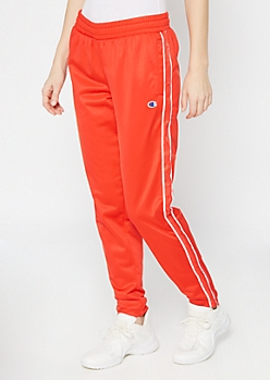 Champion Red Side Striped Track Pants