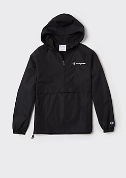 Champion Black Packable Windbreaker