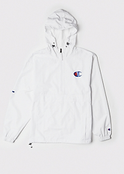 Champion White Packable Windbreaker