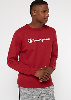 Champion Burgundy Fleece Crew Neck Sweatshirt