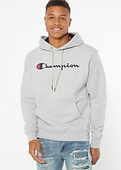 Champion Gray Pullover Graphic Hoodie