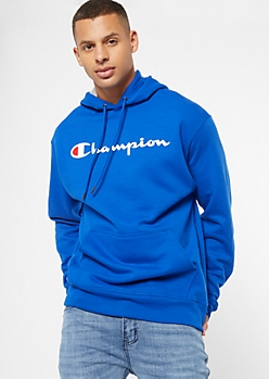 Champion Blue Chest Logo Graphic Hoodie