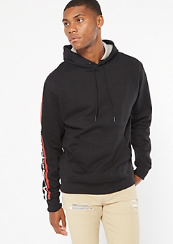 Champion Black Side Logo Hoodie