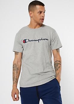 Champion Gray Short Sleeve Graphic Tee