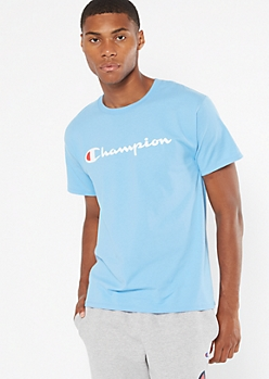Champion Blue Short Sleeve Graphic Tee
