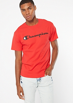 Champion Red Short Sleeve Graphic Tee