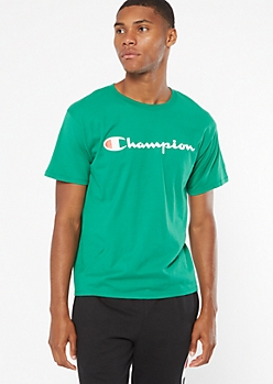 Champion Green Short Sleeve Graphic Tee