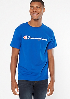 Champion Royal Blue Short Sleeve Graphic Tee