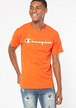 Champion Orange Short Sleeve Graphic Tee