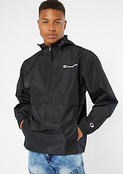 Champion Black Pullover Windbreaker