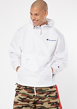 Champion White Pullover Windbreaker