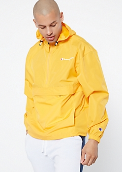 Champion Yellow Pullover Windbreaker