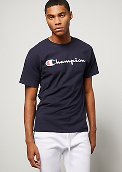 Champion Navy Graphic Tee