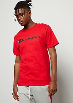 Champion Red Graphic Tee