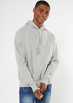 Champion Gray Embroidered Logo Hoodie