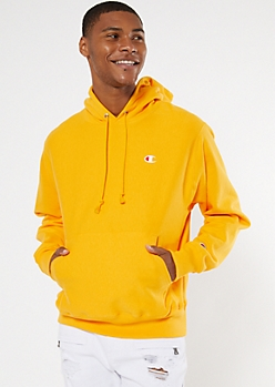 Champion Yellow Embroidered Logo Hoodie
