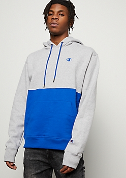 Champion Royal Blue Split Colorblock Hoodie