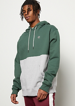Champion Green Split Colorblock Hoodie