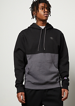 Champion Black Split Colorblock Hoodie