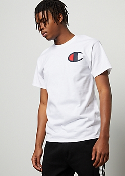 Champion White Logo Graphic Tee