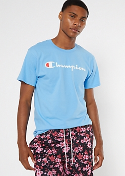 Champion Blue Logo Tee