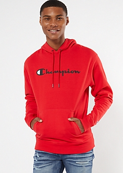 Champion Red Scripted Graphic Hoodie