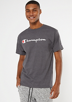 Champion Charcoal Scripted Graphic Tee