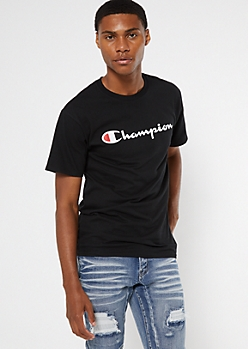 Champion Black Logo Tee