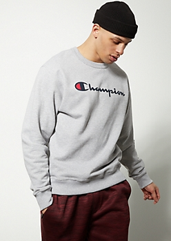 Champion Gray Crew Neck Sweatshirt