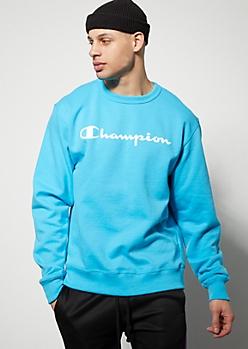 Champion Blue Crew Neck Sweatshirt
