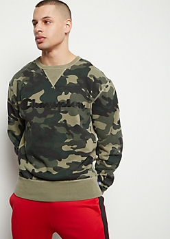 Champion Camo Print Vintage Graphic Sweatshirt